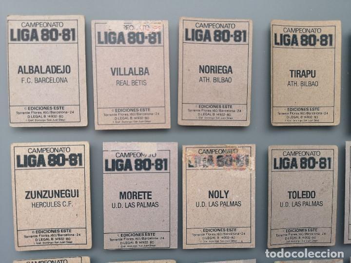 Coleccionismo deportivo: ALBUM EDIC ESTE LIGA 80 81 1980 1981 MUY COMPLETO INCLUYE 21 FICHAJES Y QUINI PINTADO MUY BUENA CONS - Foto 38 - 166776594