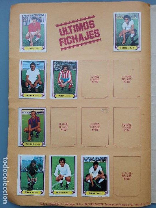 Coleccionismo deportivo: ALBUM EDIC ESTE LIGA 80 81 1980 1981 MUY COMPLETO INCLUYE 21 FICHAJES Y QUINI PINTADO MUY BUENA CONS - Foto 29 - 166776594
