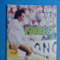 Coleccionismo deportivo: ALBUM CROMOS - LOS ASES DE LA LIGA 88-89 1988-1989, AS - VER DESCRIPCION Y FOTOS. Lote 196955480
