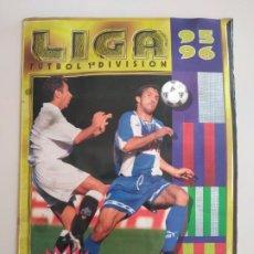 Colecionismo desportivo: ÁLBUM LIGA EDICIONES ESTE 95/96 INCOMPLETO 381 CROMOS. Lote 197412581
