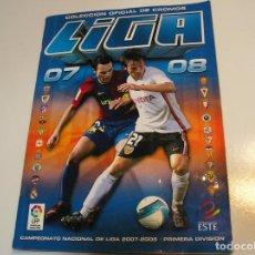Coleccionismo deportivo: ALBUM CROMOS FUTBOL LIGA 07-08, 2007-2008 - EDICIONES ESTE - MUY COMPLETO VER FOTOS INTERIOR. Lote 197569473