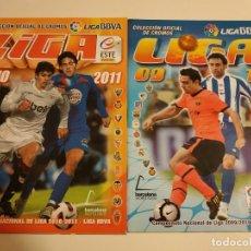Coleccionismo deportivo: LOTE 2 ÁLBUMES ESTE 09-10 10-11 CASI PLANCHA. Lote 197780246