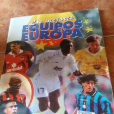 Coleccionismo deportivo: ÁLBUM LOS MEJORES EQUIPOS DE EUROPA 96-97 EDICIONES PANINI . SOLO FALTAN 53 DE LOS 310 CROMOS. Lote 199633740