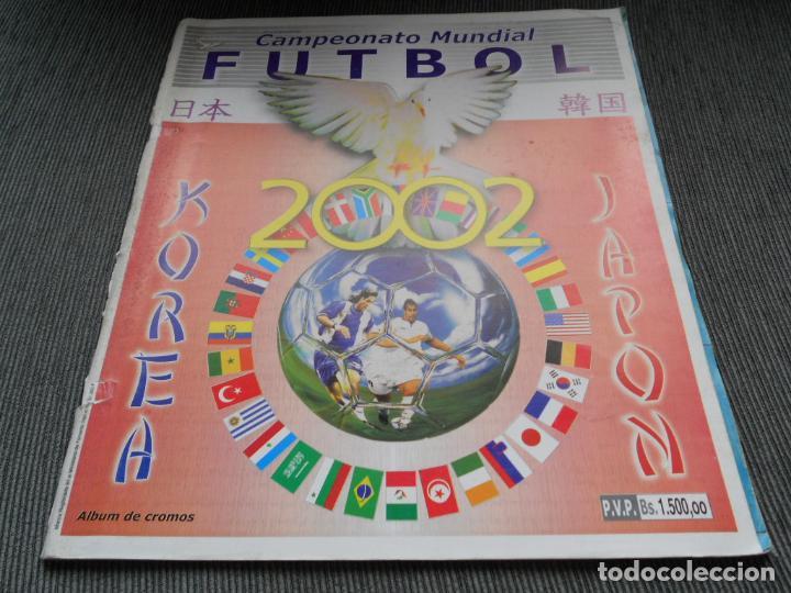 DEFECTOS ALBUM VACIO PLANCHA SIN CROMOS FIFA WORLD CUP KOREA JAPAN 2002 COREA JAPON 02 REYAUCA (Coleccionismo Deportivo - Álbumes y Cromos de Deportes - Álbumes de Fútbol Incompletos)