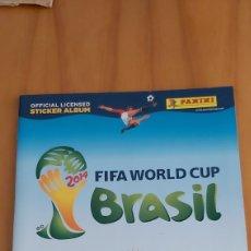 Coleccionismo deportivo: ALBUM MUNDIAL BRASIL 2014 VERSION INGLESA INCOMPLETO. Lote 201238982