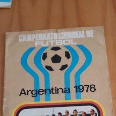 Coleccionismo deportivo: ALBUM CAMPEONATO MUNDIAL ARGENTINA 78 RUIZ ROMERO INCOMPLETO. Lote 201239583