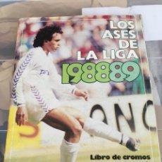 Coleccionismo deportivo: ALBUM DE FUTBOL LOS ASES DE LA LIGA 1988-89. Lote 202101783