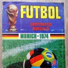 Coleccionismo deportivo: ÁLBUM FÚTBOL CAMPEONATOS MUNDIALES MUNICH 1974. Lote 203237802