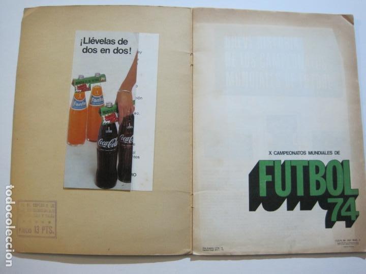Coleccionismo deportivo: MUNICH 74-ALBUM DE FUTBOL CASI COMPLETO-FALTA 1 CROMO-FHER-TARJETA COCA COLA-VER FOTOS-(V-20.024) - Foto 5 - 204319305