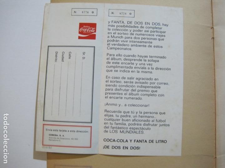 Coleccionismo deportivo: MUNICH 74-ALBUM DE FUTBOL CASI COMPLETO-FALTA 1 CROMO-FHER-TARJETA COCA COLA-VER FOTOS-(V-20.024) - Foto 8 - 204319305