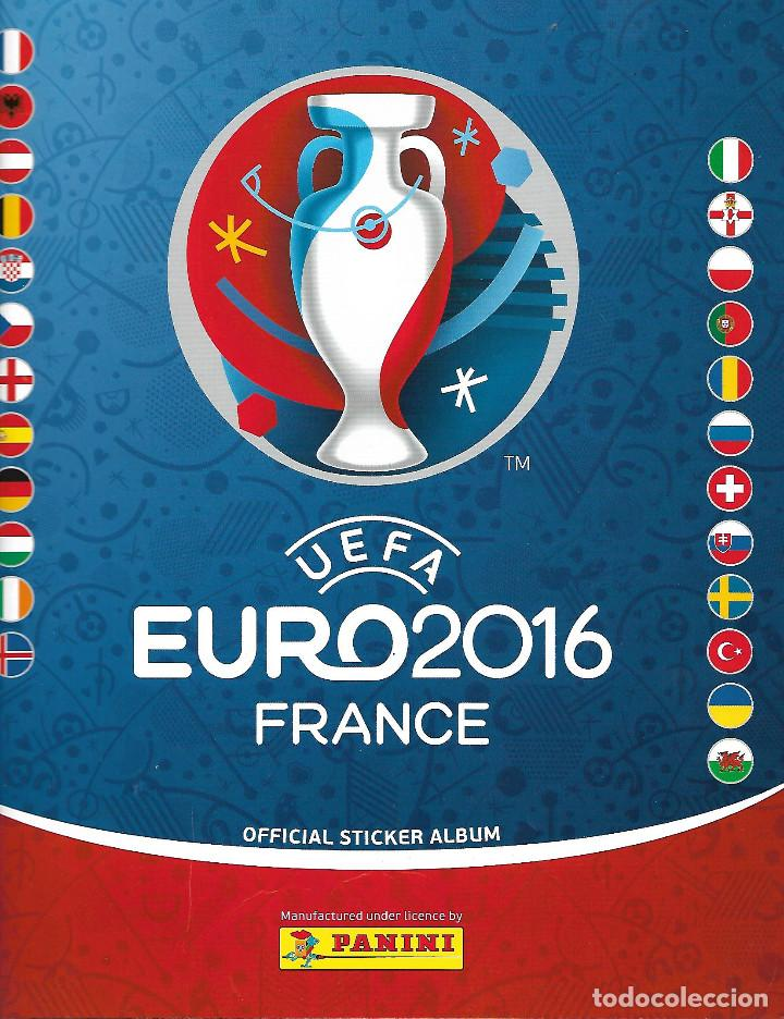 ALBUM UEFA EURO 2016 FRANCIA CON 53 CROMOS (Coleccionismo Deportivo - Álbumes y Cromos de Deportes - Álbumes de Fútbol Incompletos)