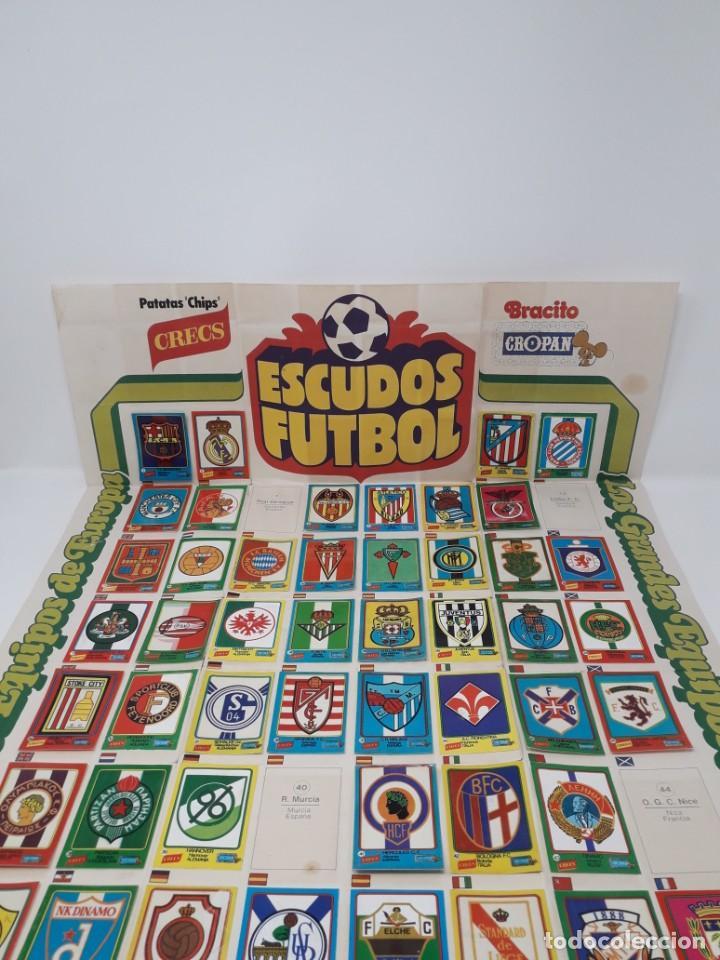 POSTER-ÁLBUM ESCUDOS FÚTBOL-CROPAN-PATATAS CRECS-LOS GRANDES EQUIPOS DE EUROPA 55/60 CROMOS!! (Coleccionismo Deportivo - Álbumes y Cromos de Deportes - Álbumes de Fútbol Incompletos)