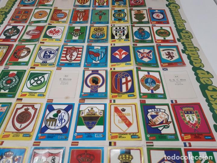Coleccionismo deportivo: Poster-Álbum Escudos Fútbol-Cropan-Patatas Crecs-Los Grandes Equipos de Europa 55/60 cromos!! - Foto 4 - 204825008