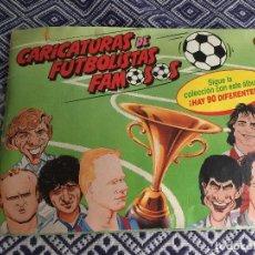 Coleccionismo deportivo: ALBUM CARICATURAS DE FUTBOLISTAS BOLLYCAO INCOMPLETO. Lote 205722003