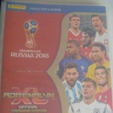 Coleccionismo deportivo: ALBUM DE TRADING CARDS DE FUTBOL , FIFA WORLD CUP DE RUSIA 2018. . CON 75 CROMOS. Lote 207168821