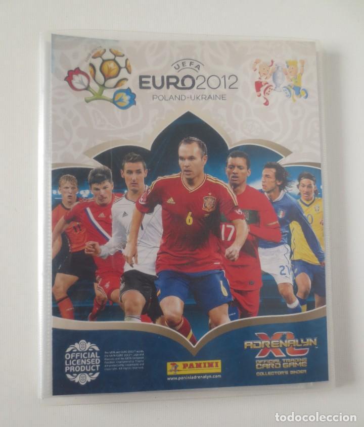 ALBUM ADRENALYN EURO 2012 PANINI CON 135 CARTAS MAS 46 REPETIDAS (Coleccionismo Deportivo - Álbumes y Cromos de Deportes - Álbumes de Fútbol Incompletos)