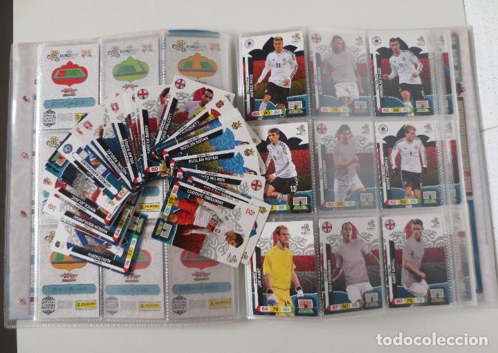 Coleccionismo deportivo: ALBUM ADRENALYN EURO 2012 PANINI CON 135 CARTAS MAS 46 REPETIDAS - Foto 2 - 207265617