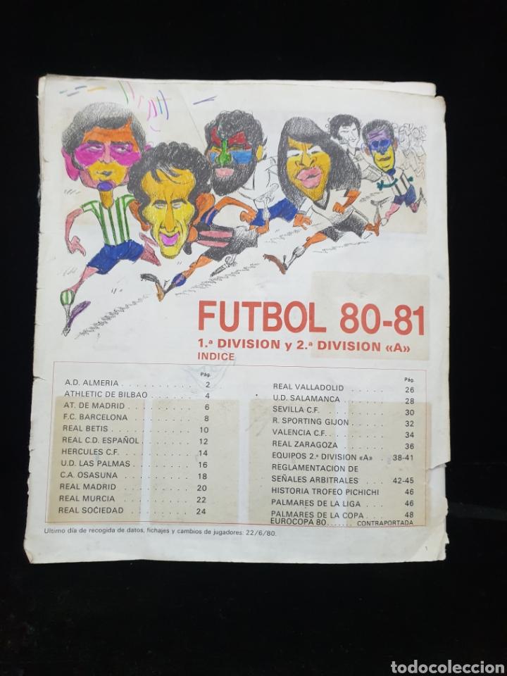LIGA 80/81 (Coleccionismo Deportivo - Álbumes y Cromos de Deportes - Álbumes de Fútbol Incompletos)