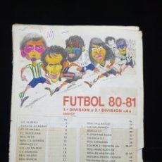 Coleccionismo deportivo: LIGA 80/81. Lote 207267916