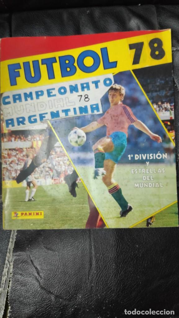 CAMPEONATO MUNDIAL ARGENTINA 78 ( PEGADOS EN UN ALBUM AL QUE NO CORRESPONDEN ) INCOMPLETO (Coleccionismo Deportivo - Álbumes y Cromos de Deportes - Álbumes de Fútbol Incompletos)