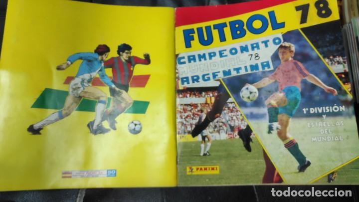 Coleccionismo deportivo: CAMPEONATO MUNDIAL ARGENTINA 78 ( PEGADOS EN UN ALBUM AL QUE NO CORRESPONDEN ) INCOMPLETO - Foto 22 - 207285602