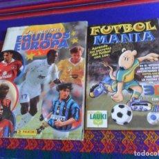 Coleccionismo deportivo: FUTBOLMANÍA INCOMPLETO FALTAN 9 DE 48 CROMOS CON LAS GAFAS LAUKI 1999. REGALO MEJORES EQUIPOS EUROPA. Lote 208240338