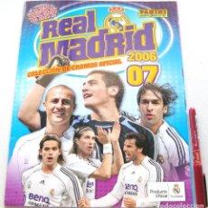 Coleccionismo deportivo: ALBUM CROMOS REAL MADRID CF 2006 2007 OFICIAL PANINI SPORTS VACIO Y COMO NUEVO STICKERS CARD. Lote 208477323