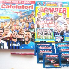 Coleccionismo deportivo: ALBUM CROMOS FIGURINE ITALIA CALCIATORI 2018-19 OFICIAL PANINI + EXTRA MAGAZINE + 7 SOBRES NEWS. Lote 208477540