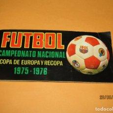 Coleccionismo deportivo: ANTIGUO ÁLBUM FÚTBOL CAMPEONATO NACIONAL COPA DE EUROPA Y RECOPA 1975 1976 DE EDITORIAL RUIZ ROMERO. Lote 209960622