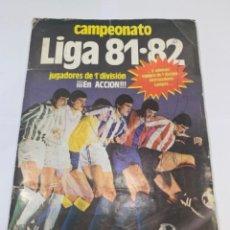 Colecionismo desportivo: ALBUM LIGA 81-82 EDICIONES ESTE -INCOMPLETO- CON DIFICIL CROMO KUSTUDIC -TIENE 200 CROMOS- (G). Lote 210009942