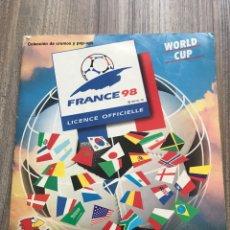 Coleccionismo deportivo: ÁLBUM PANINI MUNDIAL FRANCIA 98 INCOMPLETO. Lote 210011665