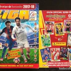 Coleccionismo deportivo: ALBUM CROMOS FUTBOL LA LIGA 2017 2018 EDICIONES ESTE VACIO + GUIA OFICIAL ADRENALYN 2019. Lote 210454097