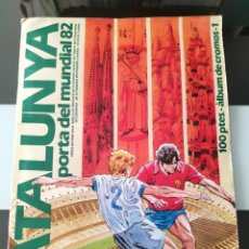 Coleccionismo deportivo: ALBUM CROMOS FUTBOL CATALUNYA PORTA DEL MUNDIAL 82 ENCICLOPEDIA CATALANA. Lote 210464233