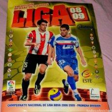 Coleccionismo deportivo: ÁLBUM LIGA 2008/09. EDICIONES ESTE. SÓLO LE FALTAN 33 CROMOS DE LOS ÚLTIMOS FICHAJES. Lote 211272149