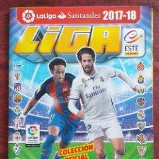 Coleccionismo deportivo: LIGA ESTE 2017 – 2018. PANINI. ÁLBUM CASI COMPLETO. LE FALTAN MUY POCOS.. Lote 211386744