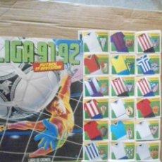 Coleccionismo deportivo: ESTE 91/92 ALBUM VACIO+ COLECCION DE 370 CROMOS SIN PEGAR. Lote 211393059