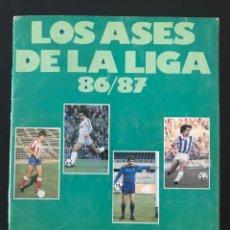 Coleccionismo deportivo: ALBUM CROMOS FÚTBOL LA LIGA DE LOS ASES TEMPORADA 86-87 1986-1987 INCOMPLETO AS MARCA PANINI ESTE. Lote 213090297