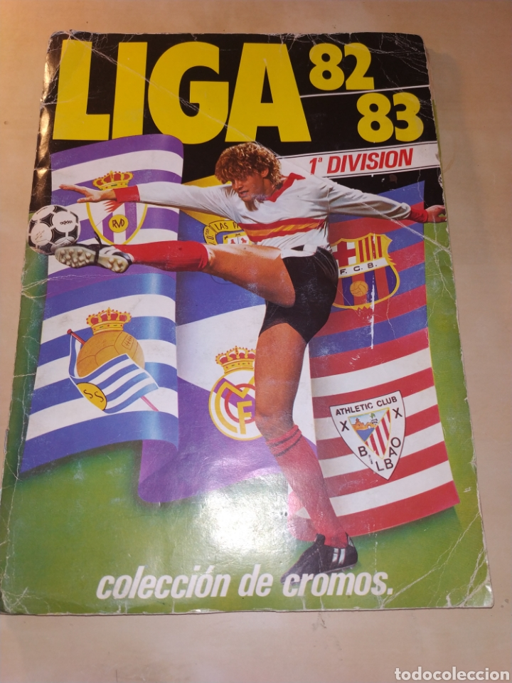 ALBUM LIGA ESTE 82 83 - CON 224 CROMOS, CON COLOCAS, OSWALDO, JULIO ALBERTO (VERSIÓN DIFÍCIL) (Coleccionismo Deportivo - Álbumes y Cromos de Deportes - Álbumes de Fútbol Incompletos)