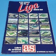 Coleccionismo deportivo: ÁLBUM DE CROMOS - LOS ASES DE LA LIGA 1989-90 - DIARIO AS. Lote 213696366