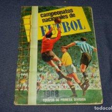 Coleccionismo deportivo: ALBUM CAMPEONATOS NACIONALES DE FUTBOL 1968 , EDT RUIZ ROMERO 1967 , FALTAN 36 CROMOS. Lote 214357810