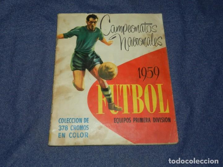 ALBUM CAMPEONATOS NACIONALES FUTBOL 1959 , FALTAN 12 CROMOS, EDT RUIZ ROMERO, BARCELONA (Coleccionismo Deportivo - Álbumes y Cromos de Deportes - Álbumes de Fútbol Incompletos)
