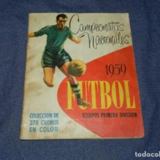Coleccionismo deportivo: ALBUM CAMPEONATOS NACIONALES FUTBOL 1959 , FALTAN 12 CROMOS, EDT RUIZ ROMERO, BARCELONA. Lote 214419866