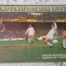 Coleccionismo deportivo: LIGA 75/76 ALBUM CON SOLO 1 CROMO.. Lote 215716637