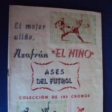 Coleccionismo deportivo: (F-200898)ALBUM ASES DEL FUTBOL AZAFRAN EL NIÑO - AÑOS 50 - FALTA 1 CROMO. Lote 215803098