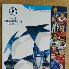 Coleccionismo deportivo: ALBUM STICKER UEFA CHAMPIONS LEAGUE 2012 2013 VACIO EMPTY EDITORIAL PANINI ALBUM PLANCHA. Lote 216602085