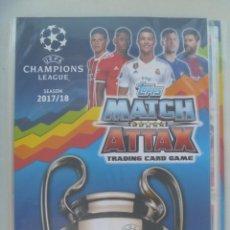 Coleccionismo deportivo: ALBUM DE CROMOS TRADING CARD GAME MATCH ATTAX , LIGA 2017 - 18 . CON 142 CROMOS. Lote 216821503