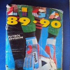 Coleccionismo deportivo: (AL-200901)ALBUM CROMOS DE FUTBOL LIGA 89 - 90 - EDITORIAL ESTE - FALTAN DOBLES. Lote 217820268