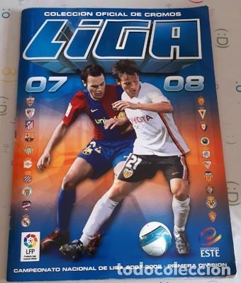 ÁLBUM INCOMPLETO ESTE LIGA 2007-2008, SÓLO LE FALTAN 7 ÚLTIMOS FICHAJES (Coleccionismo Deportivo - Álbumes y Cromos de Deportes - Álbumes de Fútbol Incompletos)