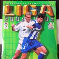 Coleccionismo deportivo: ALBUM CROMOS FUTBOL EDICIONES ESTE 04 05 LIGA 2004 2005 MESSI ROOKIE COLOCA EN VENTANILLA 509 CROMOS. Lote 218707542