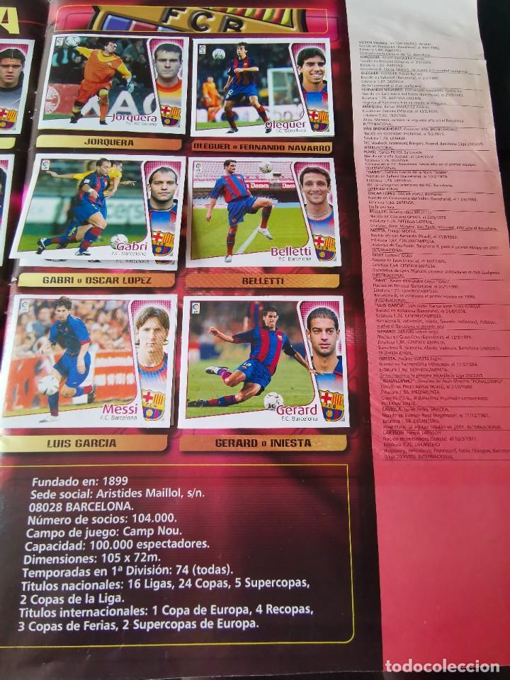 Coleccionismo deportivo: ALBUM CROMOS FUTBOL EDICIONES ESTE 04 05 LIGA 2004 2005 MESSI ROOKIE COLOCA EN VENTANILLA 509 CROMOS - Foto 12 - 218707542